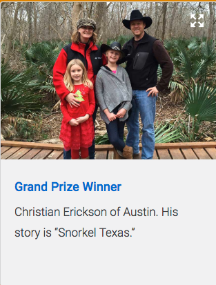 Erickson Family Texas Parks & Wildlife winners
